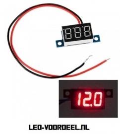 Voltmeter DC 3,3V-30V Rood
