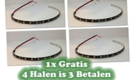 LED strip 30cm Rood - 3 strips + 1 strip Gratis