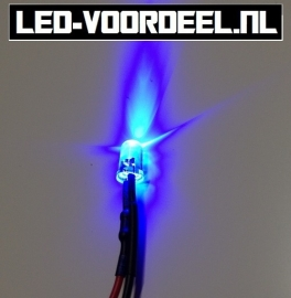 LEDjes 5mm Blauw 12 Volt