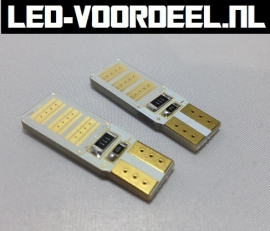 W5W T10 - COB led - Canbus achterlicht - rood - 1 setje