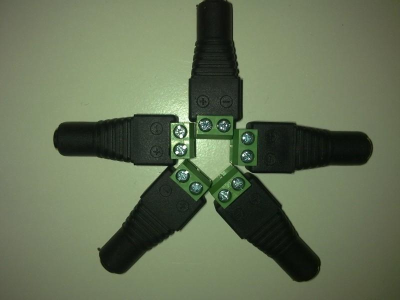 5.5x2.1mm conector (5stuks)