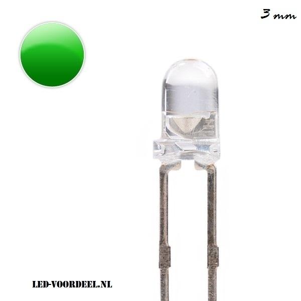 LEDjes 3mm Groen (10stuks)