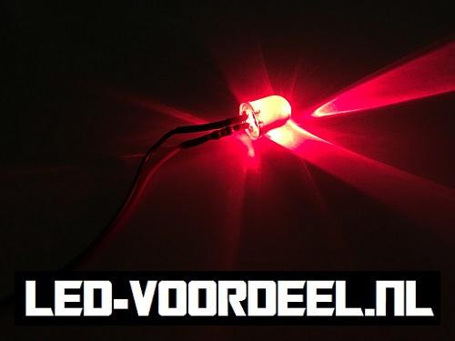 LEDjes 10mm Rood  12 Volt