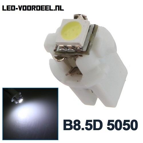 B8.5D - T5 - 1SMD 5050 Helder Wit