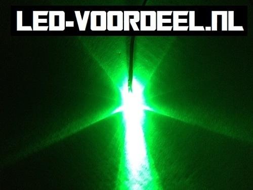 LEDjes 3mm Groen  12 Volt