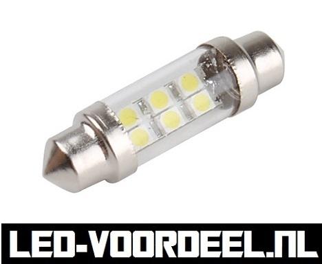 39mm - LED C5W - Festoon -  Wit