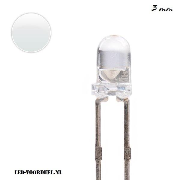 LEDjes 3mm Wit (10stuks)