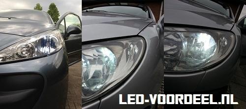 Auto's met Ledverlichting T10 w5w stadslicht
