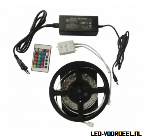 Complete ledstrip, rgb strips,rgb controller, voeding,led,5050smd,rgb
