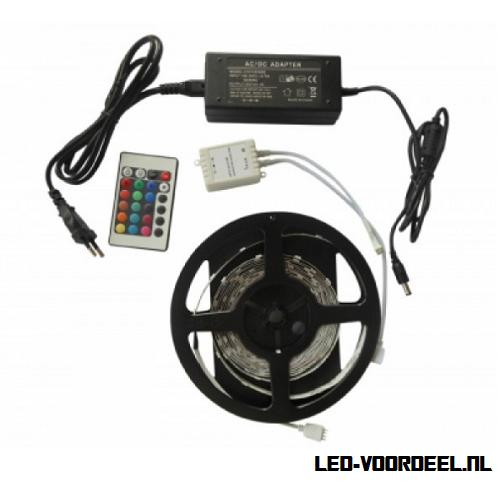 Complete ledstrip, rgb strips,rgb controller, voeding,led,5050smd,rgb