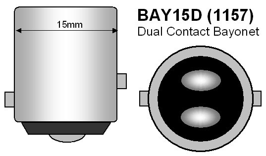 BAY15D P21/5W 1157 Canbus