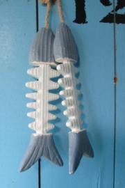 Vissen aan een touw