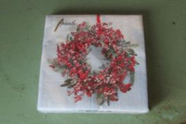 Kerstservetten frozen wreath (klein formaat)