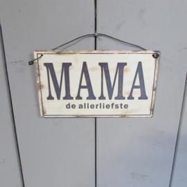 Mama is de allerliefste (metaal) 17 cm
