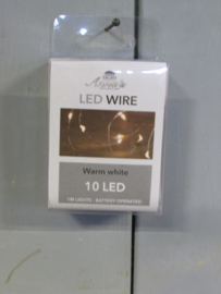 LED verlichting 10 lamps, zilverdraad