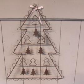 Kerstboom kaartenhanger