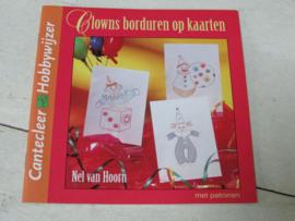 DOEboekje, clowns borduren op kaarten