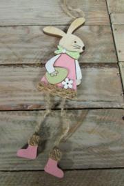 Haasje /konijntje 14 cm (meisje)