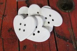 witte hartjes per 5 stuks
