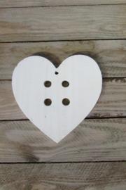 Houten hart 14,5 cm met gaatjes