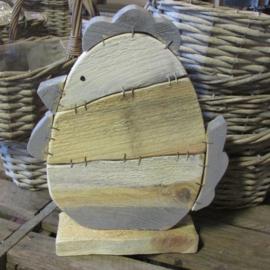 Kip 26 cm  steigerhout