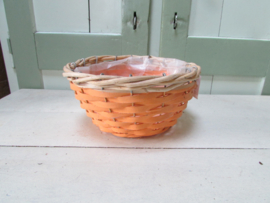 Mandje oranje/naturel  20 cm