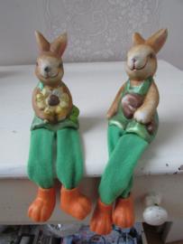 Haasje/konijntje met bungelbeentjes per stel