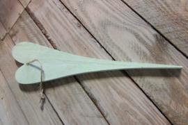 Hart 30 cm zacht groen