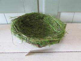 Vogelnestje 15 cm, groen