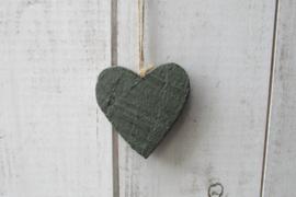 Hart donker groen 7 cm