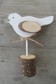 Vogel op stammetje 14 cm