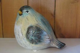 Vogel 14 cm  (met blauw)