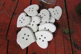 Witte hartjes 10 stuks