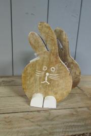 Haas/konijn naturel 18,5 cm