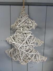 Kerstboom van riet 39 cm