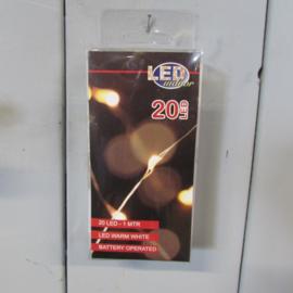 LED verlichting  20 lamps (zwart draad)