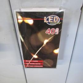 Kerstverlichting zilver draad 40 lamps