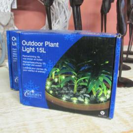 Kerstverlichting outdoor plantenbak zwart
