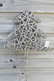 Kerstboom van riet  naturel