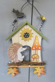 Egel/huisje/paddenstoeltjes
