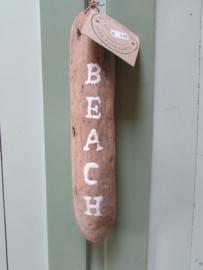 Beach op drijfhout 30 cm