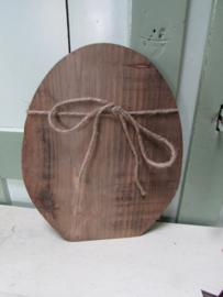 Ei van hout 26 cm naturel