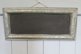 Zinken krijtbord 54,5x 25 cm