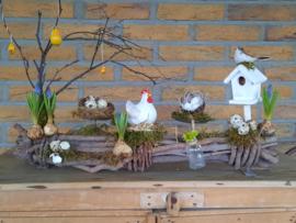 Kip op stok ( dit is een workshop en kan ook als thuispakket)