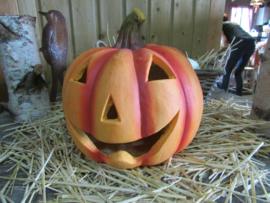 Halloween  windlicht  pompoen 30 cm, alleen afhalen