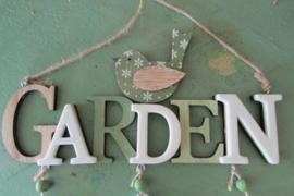 Garden met vogeltje 22,5 cm