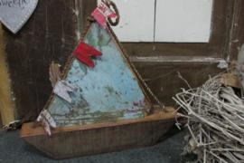 Boot van oude paneel 35 cm