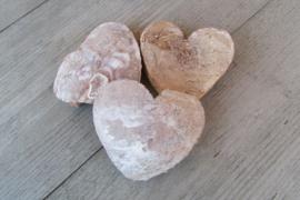Kokos hartjes 10 cm 3 stuks