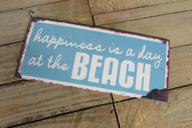Happiness  at the beach..... 25x11 cm