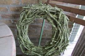 Krans groen van druivenhout 30 cm